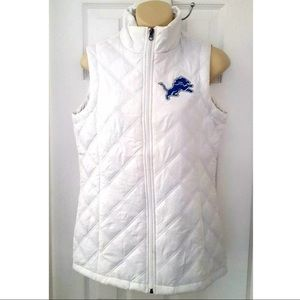 Detroit Lions NFL Embroidered Quilted Puffer Vest